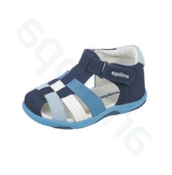894caca3e7a1 Сандалии Антилопа, цвет - син. голуб. бел, натуральная кожа,