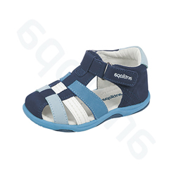 8a21394ce Сандалии Антилопа, цвет - син./голуб./бел, натуральная кожа,