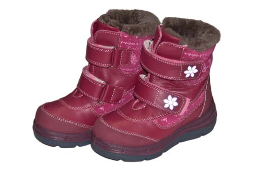 1b0141df Ботинки для девочки зимние, Котофей, нат.кожа/мех, 2 липучки, р.23-31 ―  Топтыга