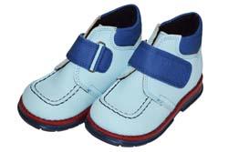 1ece88673 Ботинки Tаши-орто утепленные, голубая кожа, синяя липучка, р.20-