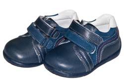 f7d346018 Полуботинки Yukon, цвет синий, нубук/ кожа, 2 липучки, р.17